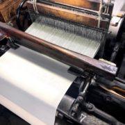 マアル久留米絣(かすり)の新作「生成り」が織り上がりました